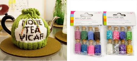 tea cozy and mini craft kits from all the fun of the fair